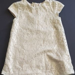 H&M Toddler Girls 2-3y Gold Lace Dress